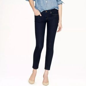 J. Crew Dark Wash Toothpick Ankle Jeans
